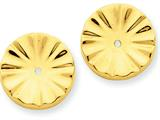 14k Polished Sunburst Earring Jackets style: E897J