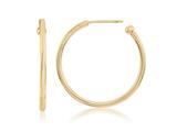 Nikki Lissoni Sterling Silver Polished Gold-tone Post Hoop Earrings style: EA1002G