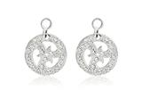 Nikki Lissoni Sterling Silver Crystal Sparkling Curls Earring Coins style: EAC2002S