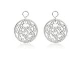 Nikki Lissoni Sterling Silver Crystal Sparkling Flower Earring Coins style: EAC2006S