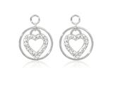 Nikki Lissoni Sterling Silver Crystal Love Keeper Earring Coins style: EAC2017S