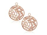 Nikki Lissoni Sterling Silver Rose-tone China Garden Earring Coins style: EAC2025RG