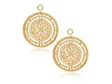 Nikki Lissoni Sterling Silver Gold-tone Roman Maze Earring Coins style: EAC2026G