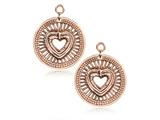 Nikki Lissoni Sterling Silver Rose-tone Heart Will Protect Earring Coins style: EAC2028RG