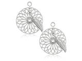 Nikki Lissoni Sterling Silver Swarovski Dreamcatcher Earring Coins style: EAC2034S