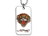 Ed Hardy Roaring Tiger Dog Tag Painted Necklace style: EHF104