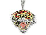 Ed Hardy Roaring Tiger Painted Necklace