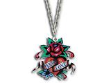 Ed Hardy Rose Eternal Love Painted Necklace