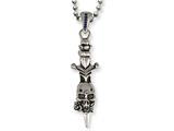 Stainless Steel Ed Hardy Skull Dagger Necklace