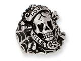 Stainless Steel Ed Hardy Skull Ring