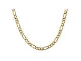 8 Inch 14k 5.25mm Flat Figaro Chain Bracelet style: FFL1408