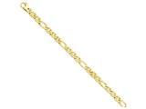 18 Inch 14k 6.5mm Solid Hand-polished 3 and 1 Flat Anchor Chain style: FL43818