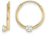 14k Madi K Endless Cz Hoop Children Earrings style: GK261