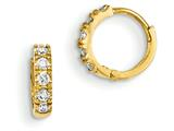 "14k Madi K Cz Children""s Hinged Hoop Earrings style: GK648"