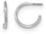 14k White Gold Childrens Screw Back Hoop Earrings style: GK892