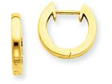 14k Polished 2mm Hinged Hoop Earrings style: H772