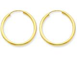 14k Polished Round Endless 2mm Hoop Earrings style: H980