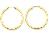 14k Polished Round Endless 2mm Hoop Earrings style: H981