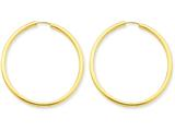 14k Polished Round Endless 2mm Hoop Earrings style: H983