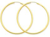 14k Polished Round Endless 2mm Hoop Earrings style: H985