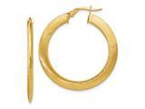 Finejewelers 14k Brushed Hinged Hoop Earrings style: LESLE954
