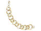 Finejewelers 14k Polished And Hammered Fancy Link Bracelet style: LESLF3578