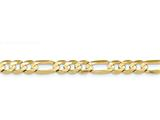 20 Inch 14k 7.5mm Concave Open Figaro Chain style: LFG20020