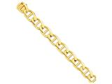 22 Inch 14k 15mm Hand-polished Anchor Link Chain style: LK10422