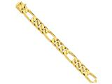 9 Inch 14k 13mm Hand-polished Figaro Link Chain Ankle Bracelet style: LK1119