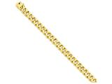 22 Inch 14k 9.2mm Hand-polished Traditional Link Chain style: LK11922