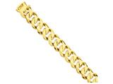 8 Inch 14k 19mm Hand-polished Traditional Link Chain Bracelet style: LK1238