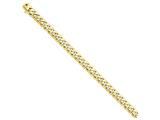 8 Inch 14k 8.75mm Hand-polished Rounded Curb Chain Bracelet style: LK1258