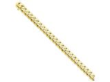 8 Inch 14k 10mm Hand-polished Rounded Curb Chain Bracelet style: LK1268