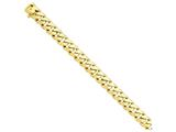 22 Inch 14k 11mm Hand-polished Rounded Curb Link Chain style: LK12722