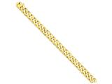 8 Inch 14k 9.8mm Hand-polished Flat Beveled Curb Chain Bracelet style: LK1338