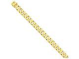 8 Inch 14k 11.2mm Hand-polished Flat Beveled Curb Chain Bracelet style: LK1348