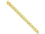 8 Inch 14k 12mm Hand-polished Fancy Link Chain Bracelet style: LK1398