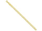 9 Inch 14k 6.5mm Hand-polished Fancy Link Chain Ankle Bracelet style: LK1479