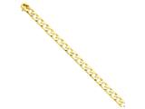 24 Inch 14k 8mm Hand-polished Fancy Link Chain style: LK14824