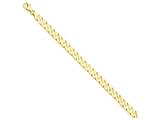 8 Inch 14k 7mm Hand-polished Fancy Link Chain Bracelet style: LK1498
