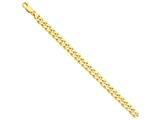 9 Inch 14k 8mm Hand-polished Fancy Link Chain Ankle Bracelet style: LK1579