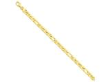 8 Inch 14k 6mm Hand-polished Fancy Link Chain Bracelet style: LK1668