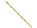 24 Inch 14k 6mm Hand-polished Fancy Link Chain style: LK17024