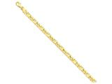 9 Inch 14k 6mm Hand-polished Fancy Link Chain Ankle Bracelet style: LK1719