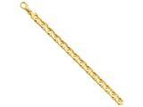8 Inch 14k 8mm Hand-polished Fancy Link Chain Bracelet style: LK1788