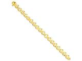 8 Inch 14k 10mm Hand-polished Fancy Link Chain Bracelet style: LK1898