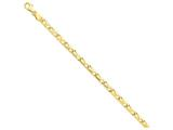 7 Inch 14k 5mm Hand-polished Fancy Link Chain Bracelet style: LK2167