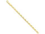 7 Inch 14k 5mm Hand-polished Fancy Link Chain Bracelet style: LK2167