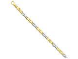 24 Inch 14k Two-tone 6mm Fancy Link Chain style: LK22424