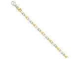 8 Inch 14k Two-tone 6.5mm Hand-polished Fancy Link Chain Bracelet style: LK306A8